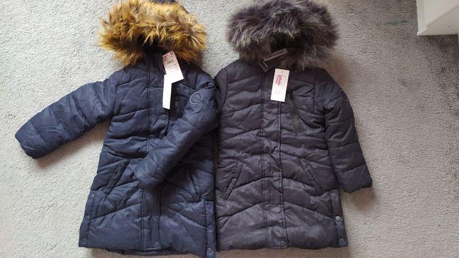 Zimowy, wodoodporny płaszcz Reserved, r 122, NOWY