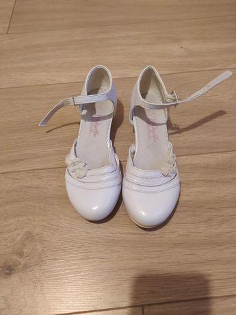 Buty komunijne białe 33