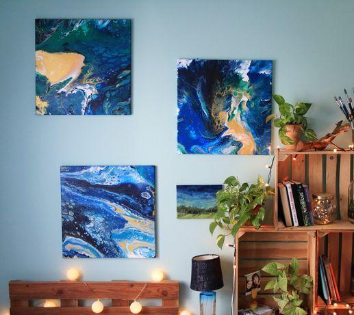 Okazja! Komplet dużych obrazów abstrakcyjnych 50x50