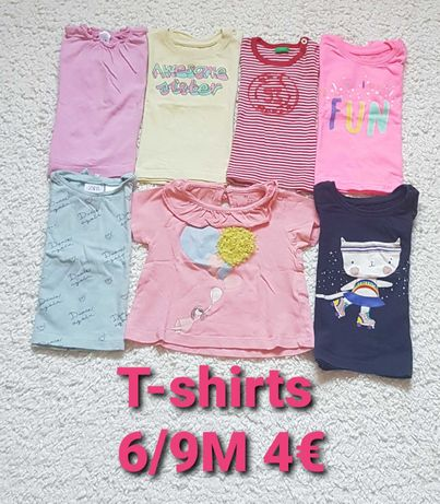 T,shirts menina 6/9M