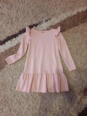 Платье нежно розовое 134