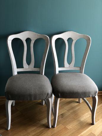 Krzesło tapicerowane lite drewno krzesła