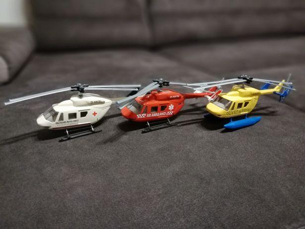 3 x Model Siku Helikopter Helikoptery. Stan Bardzo Dobry