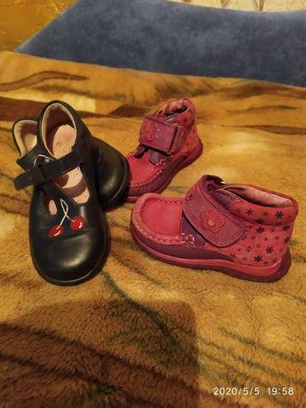 Туфельки ботиночки Clarks для девочки 2-3 г