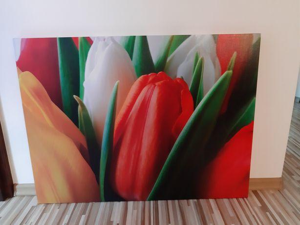 Obraz na ścianę ozdobny dekoracyjnu kwiaty tulipany