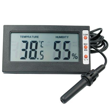 Higrómetro e Termómetro digital, com sonda, max/min