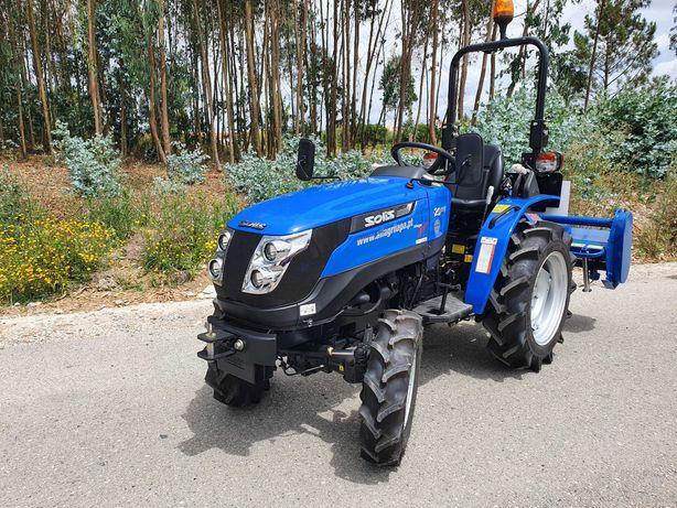 """Trator Solis 20 Stage V Novo C/ 4 Alfaias """"Campanha Blue Edition"""""""