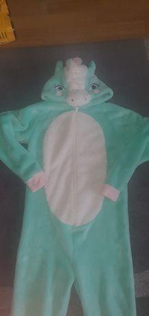 Ciepła piżama kombinezon smok 146-152