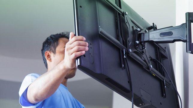 Montaż, instalacja telewizora na ścianie, TV, RTV