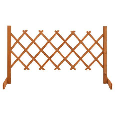 vidaXL Vedação em treliça para jardim 120x60 cm abeto maciço laranja 314822