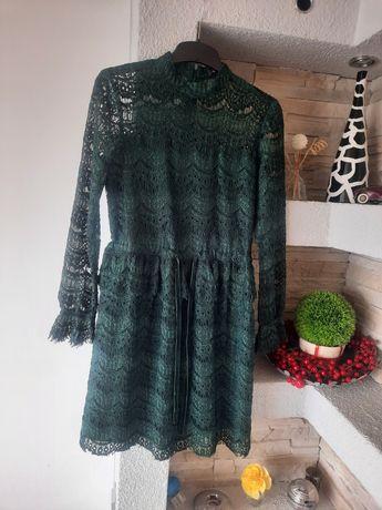 Sukienka Reserved S butelkowa zieleń