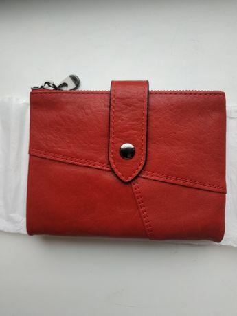 Женский красный кошелек кожа Kavis кожаный кожанный гаманець червоний