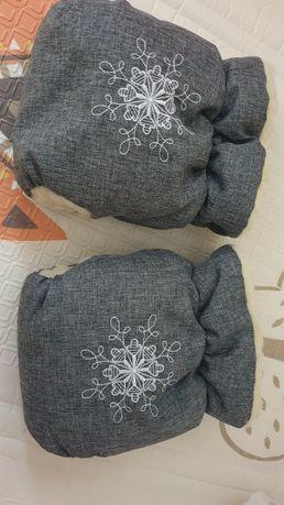 Универсальные рукавицы-муфты на овчине