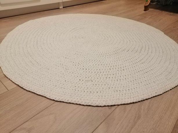 Dywan ręcznie robiony na szydełku biały | Kurier gratis!