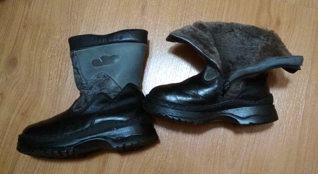 Зимние кожаные ботинки на натуральном меху 29 размер