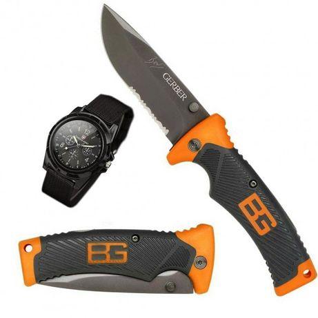 Набор нож Gerber Bear Grylls Ultimate и часы Swiss Army