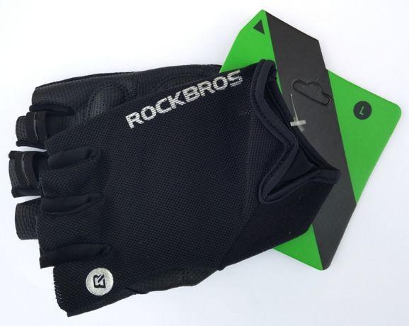 Rękawiczki rower sport fitness RockBros pół-palce L logo uniwersalne