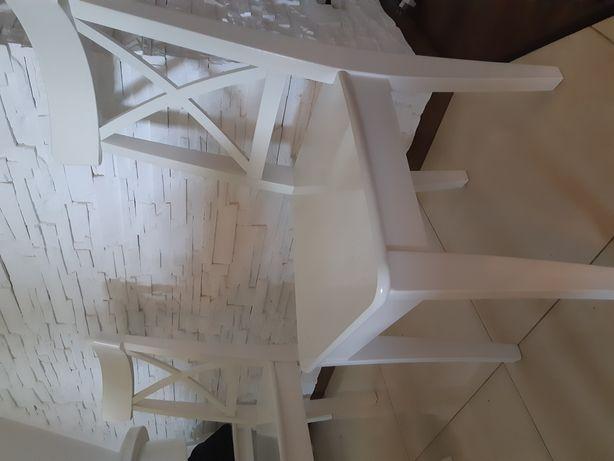 Krzesła ingolf ikea białe 2 sztuki