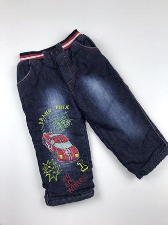 Утепленные джинсы на мальчика 3 года