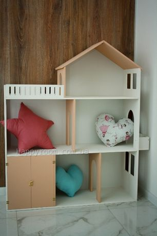 Кукольный домик. Подарок для девочек. Стильный домик для кукол.