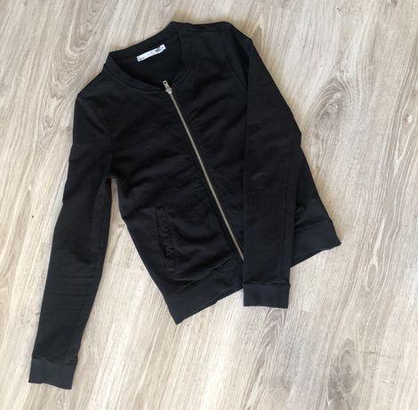 Bluza bawełniana czarna rozpinana rozm 34 xs