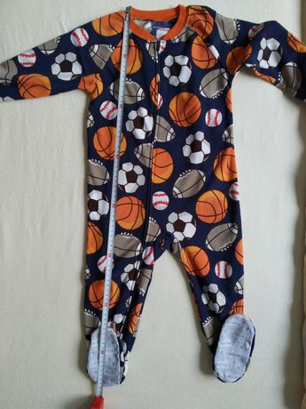 Polarowy rampers, piżamka dla chłopca rozm 92, Carter's