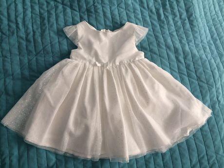 Sukienka 68 chrzest opaska skarpetki bielizna