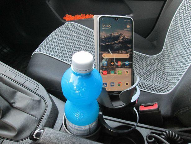 Uchwyt Obrotowy Samochodowy Kubek Puszka Napój Telefon Okulary Bilon