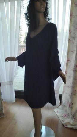 Modrakowa sukienka nowa:)krój lamania