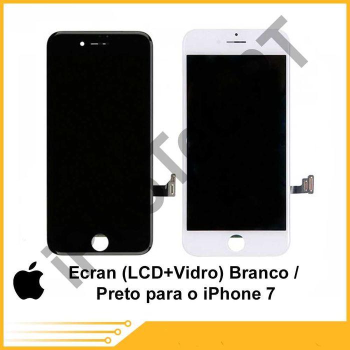 ECRÃ / TOUCH + LCD iPhone 7 / 7Plus oferta película + kit ferramenta Cacém E São Marcos - imagem 1