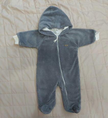 Человечек на хлопковой подкладке комбинезон слип НЯНЯ 62 см