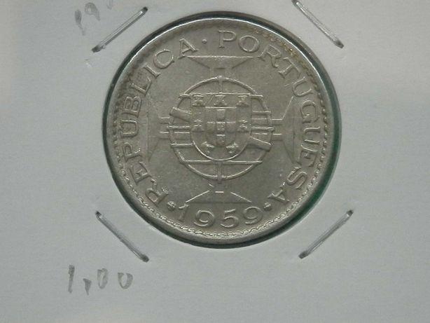 365 - INDIA - 1 tanga 1947 + 1$00 1959