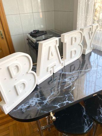 Продаам буквы светящиеся BABY ночники или декор