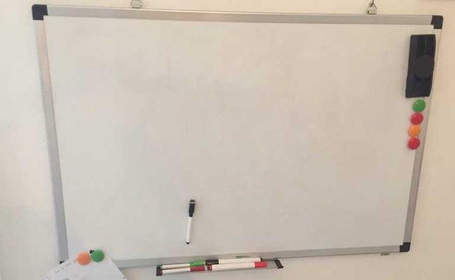 Quadro Branco Magnético 120 cm x 90 cm + Apagador + Marcadores (NOVO)