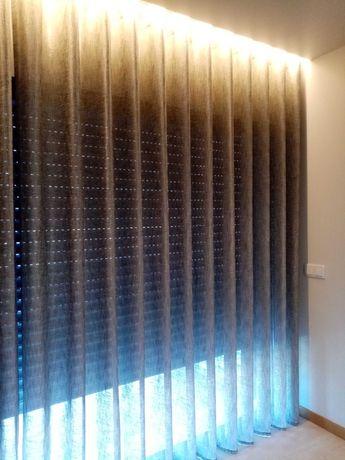 Vendo cortinado de quarto moderno/ondas praticamente novos