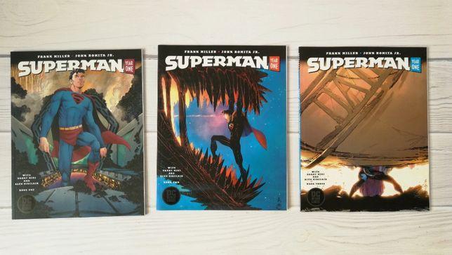 Super Man Year One z serii DC BLACK LABEL komplet 1-3