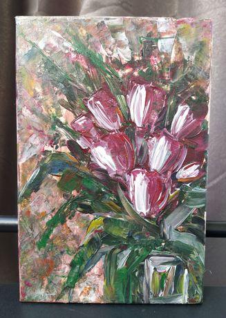"""Интерьерная картина ручной работы 20*30 см акрилом на холсте """"Весна"""""""