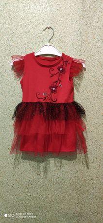 Платье на девочку 1 - 2 года ручная работа
