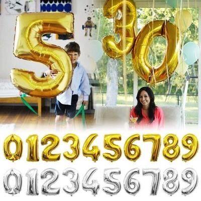 Цифры 80/100 см(фольгированные шары, шарики, фотозона, декор)