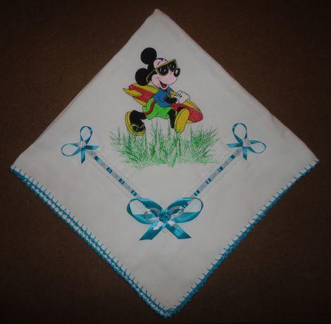 "Fralda Bordada ""Mickey Mouse"""