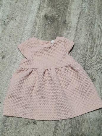 Pudroworóżowa sukienka h&m