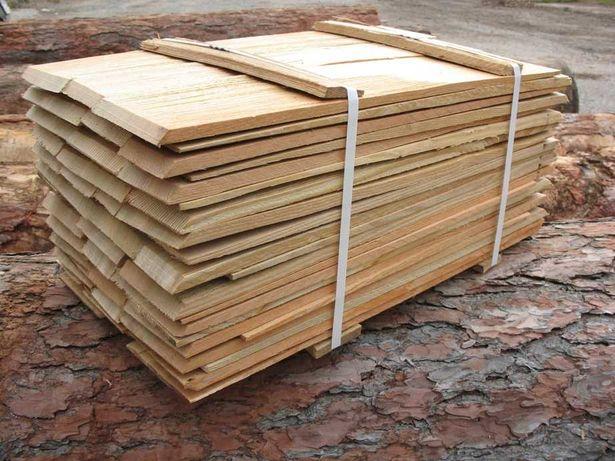 Gont drewniany modrzewiowy: dranica, wiór, wpust