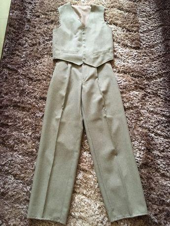 Spodnie, kamizelka chłopięca, rozmiar 146