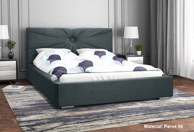 Łóżko tapicerowane LOLA 160x200 - stelaż drewniany + pojemnik
