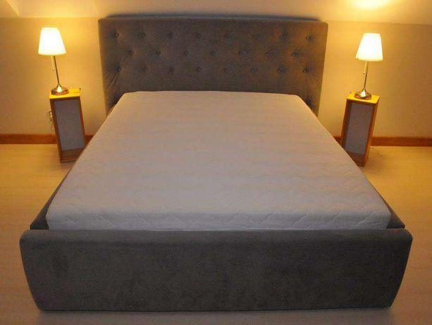 Nowoczesne łóżko sypialniane, pikowane