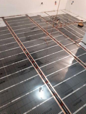 Ogrzewanie podłogowe folia grzewcza na podczerwień zestaw pod panel