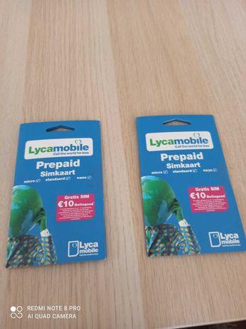 Karty sim telefoniczne Lycamobile bez rejestracji.