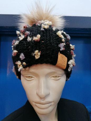NOWA Ciepła czapka kolorowa. Buldog francuski #Lejdomel#