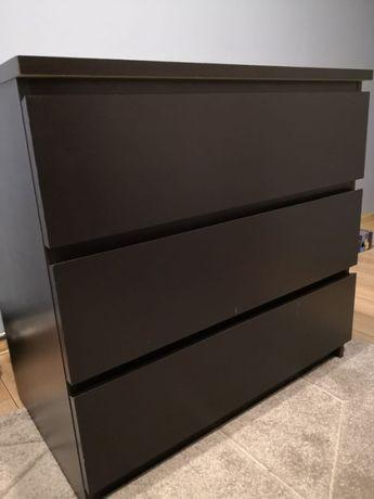 Besta Malm 3 Szuflady Czarna IKEA