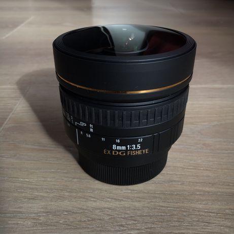 Obiektyw Sigma 8mm Fisheye / Nikon